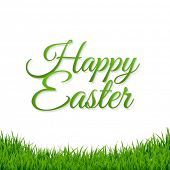 Happy Easter Banner With Gradient Mesh, Vector Illustration