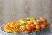 Dessert Of Oranges And Apples