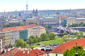 Panorama Of The City Of Prague