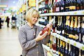 Woman Choosing Pink Wine