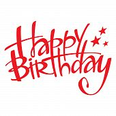 picture of happy birthday  - The red inscription Happy Birthday  - JPG