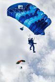 Paratrooper man descends