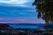 Sunset Over The Lake Garda