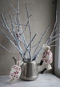 Textile Candy On White Branches