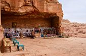 Jordan, Petra, A Gift Shop Near The Royal Tombs