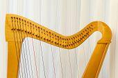 Celtic Harp Close-up Top Part