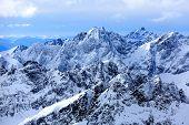 Majestic mountains landscape. High Tatras, Slovakia