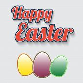 Making leaflet Happy Easter for design vector