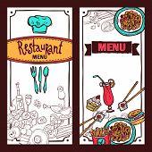 Restaurant menu food banners set
