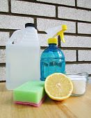 stock photo of house cleaning  - Vinegar bottle - JPG