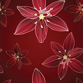 Classic handdrawn floral seamless pattern.