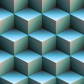 3D Cubes In Blue