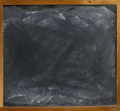 Blank Blackboard  Straight On