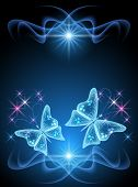 Transparent Butterfly And Stars