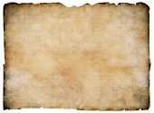 picture of treasure map  - Old blank parchment treasure map isolated - JPG