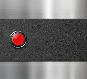 start engine red blank button on black plastic and metal background