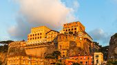 View Of Sorrento In Sunset