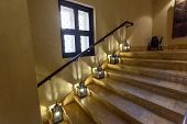 Staircase with arabian lamps