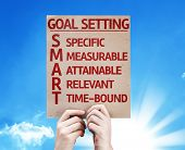Goal Setting - SMART card with beautiful day