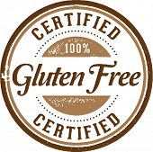 Certified 100% Gluten Free Product Stamp