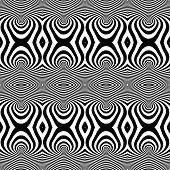Seamless op art pattern. Vector art.