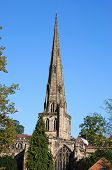 stock photo of church-of-england  - Parish Church of Saint Oswald Ashbourne Derbyshire England UK Western Europe - JPG