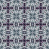 Geometric Floral Collage Pattern