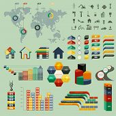 Vector illustration of graphic information on the topic of building