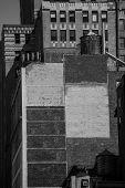 Fifth avenue aged brick wall 5 th Av New York Manhattan USA
