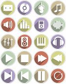 Set of icons for music