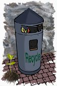 Illustration garbage bin