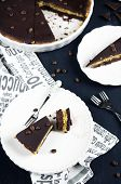 Chocolate and coffee tart