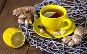 Tea With A Lemon And Ginger