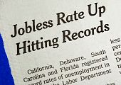Jobless rate is up and hitting the record concepts poor economy