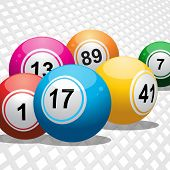 Bingo Balls On White 3D Background