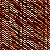 Abstract speckled lines pattern. Diagonal bead stripes. Seamless vector background.