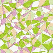Abstract mosaic pattern with triangles. Seamless vector. Pale colors.