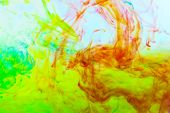 picture of pigment  - Background of color pigments in water solution - JPG