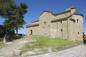 picture of leo  - Exterior of the medieval cathedral of San Leo in San Leo - JPG