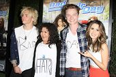 LOS ANGELES - FEB 10: Ross Lynch, Raini Rodriguez, Calum Worthy, Laura Marano at the screening of the Disney Channel Original Movie 'Bad Hair Day' on February 10, 2015 in Burbank, CA