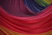 Segment Of Folded Parachute Fabric In Beautiful Colors