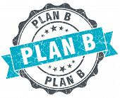 Plan B Vintage Turquoise Seal Isolated On White