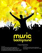 Music dance background, vector