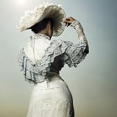 Woman In Vintage Dress