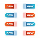 Vector set of new label tags.