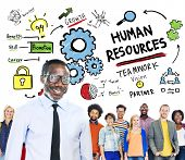 Human Resources Employment Job Teamwork People Leadership Concept