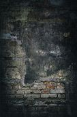 grunge brick wall for background.