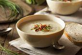 Homemade Creamy Potato And Leek Soup