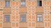 GRAZ, AUSTRIA - JANUARY 10, 2015: Architecture along Hauptplatz main square city of  Graz, Styria, Austria on January 10, 2015.