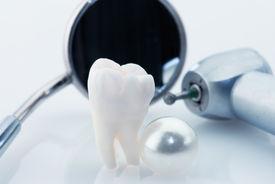 stock photo of overbite  - Healthy teeth concept - JPG